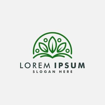 Szablon projektu logo liścia