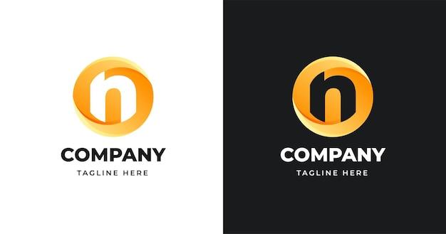 Szablon Projektu Logo List W Stylu Kształtu Koła Premium Wektorów