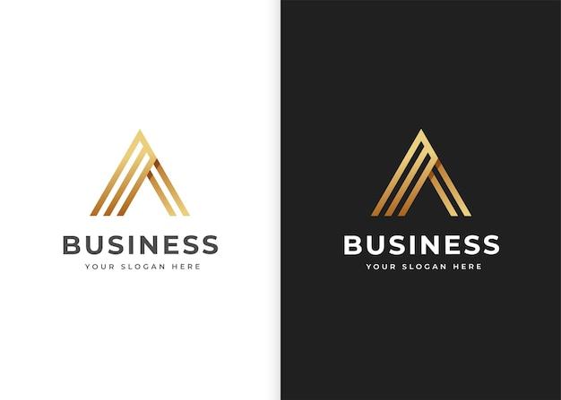 Szablon projektu logo litery a. ilustracje wektorowe