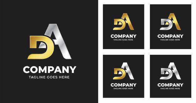 Szablon projektu logo litery ad