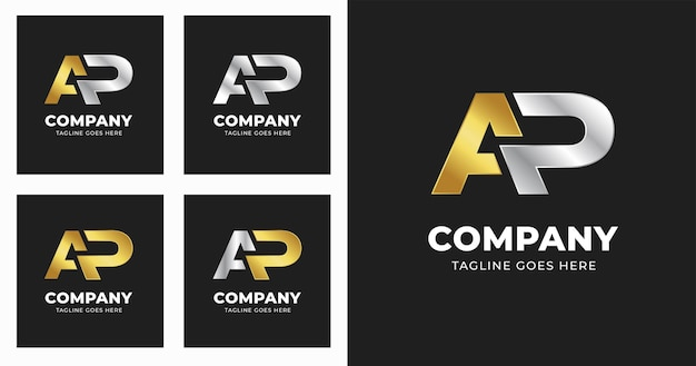 Szablon projektu logo litery ap