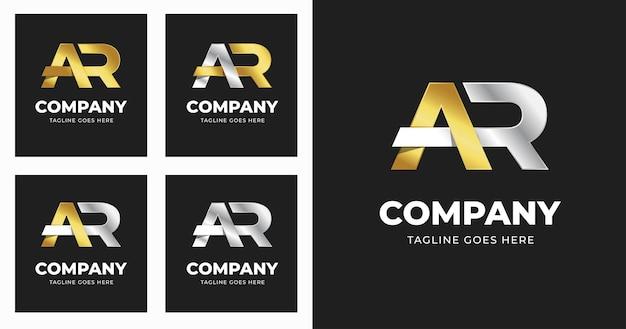 Szablon projektu logo litery ar