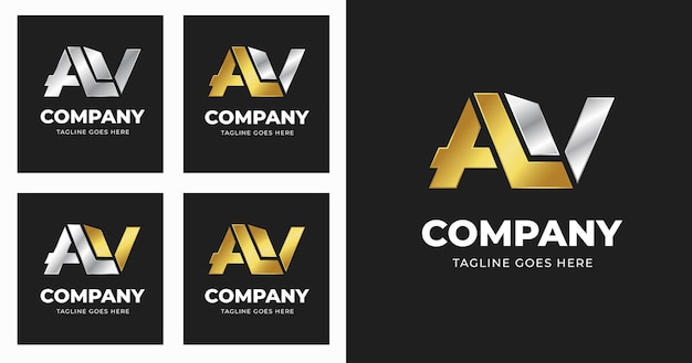 Szablon projektu logo litery av