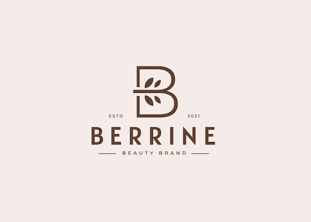 Szablon projektu logo litery b, ilustracje w kobiecym stylu