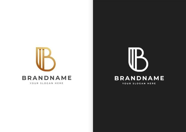 Szablon projektu logo litery b. ilustracje wektorowe