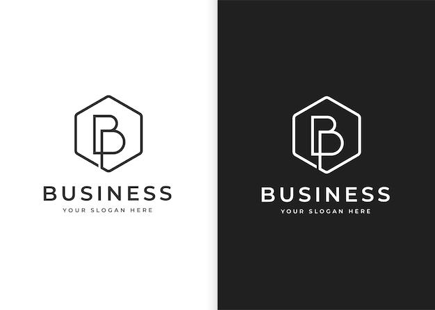 Szablon projektu logo litery b o geometrycznym kształcie. ilustracje wektorowe