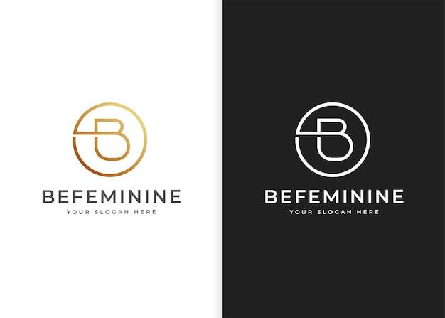 Szablon projektu logo litery b w kształcie koła. ilustracje wektorowe