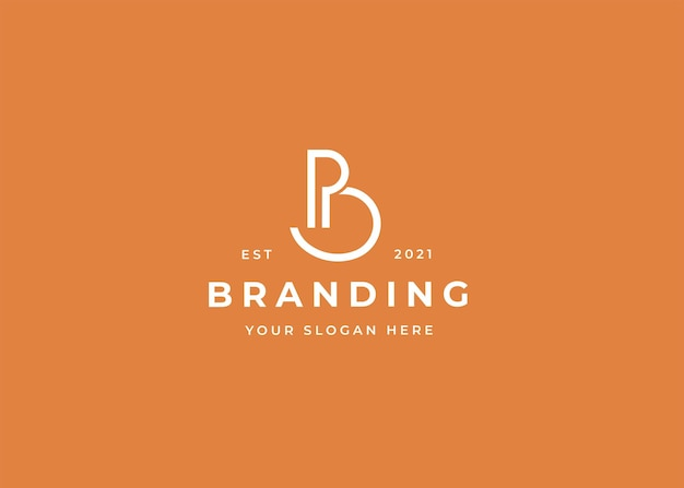 Szablon projektu logo litery b