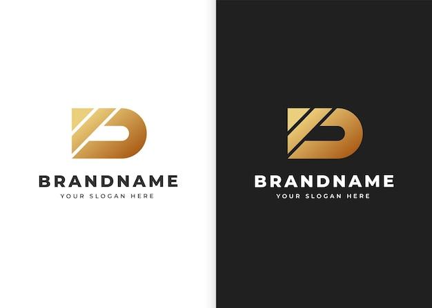 Szablon projektu logo litery d. ilustracje wektorowe