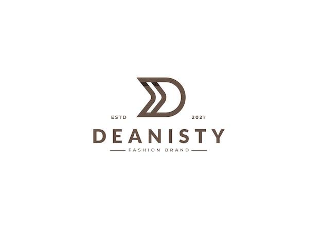 Szablon projektu logo litery d