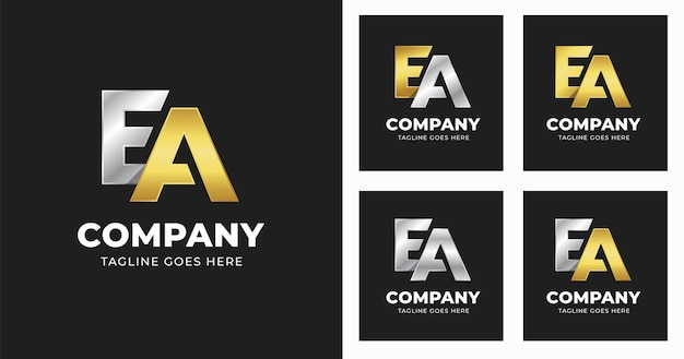Szablon projektu logo litery ea