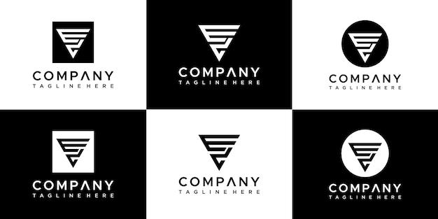 Szablon projektu logo litery ev