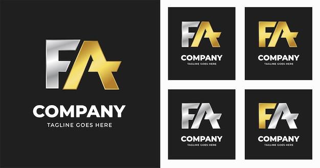 Szablon projektu logo litery fa