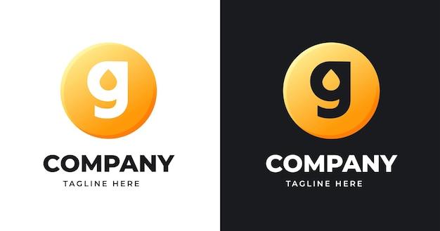 Szablon projektu logo litery g ze stylem kształtu koła