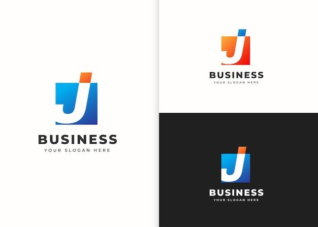 Szablon projektu logo litery j. ilustracje wektorowe