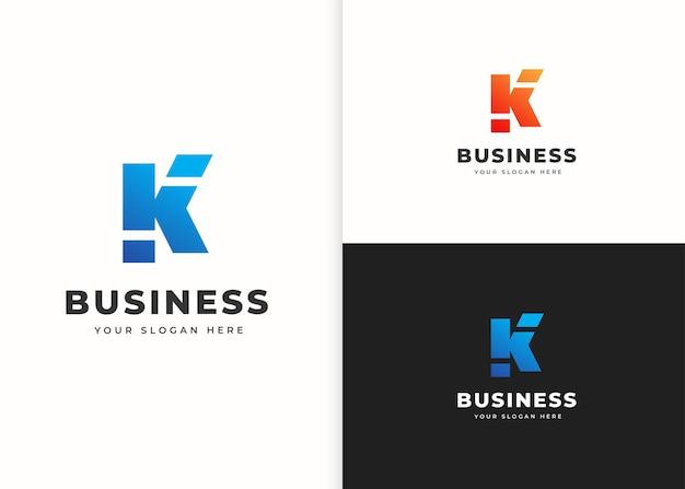 Szablon projektu logo litery k. ilustracje wektorowe