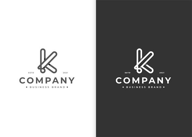 Szablon projektu logo litery k