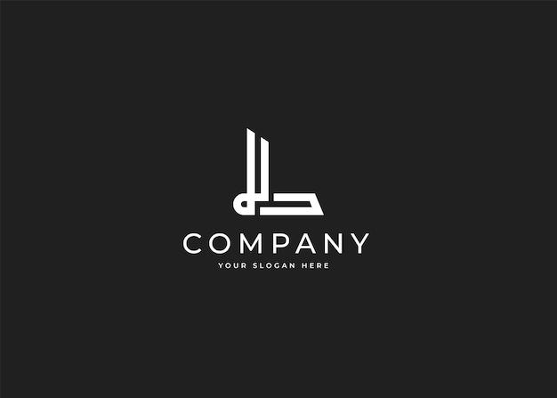 Szablon projektu logo litery l