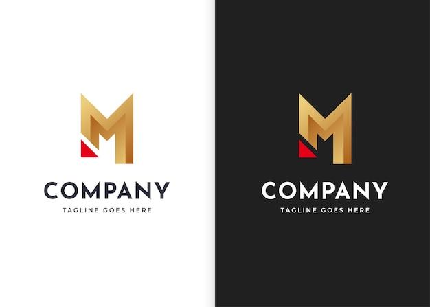 Szablon projektu logo litery m. ilustracje wektorowe