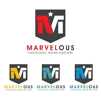 Szablon Projektu Logo Litery M. Premium Wektorów
