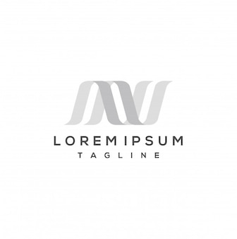 Szablon projektu logo litery n