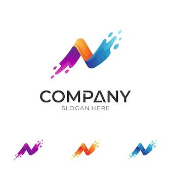 Szablon projektu logo litery n.