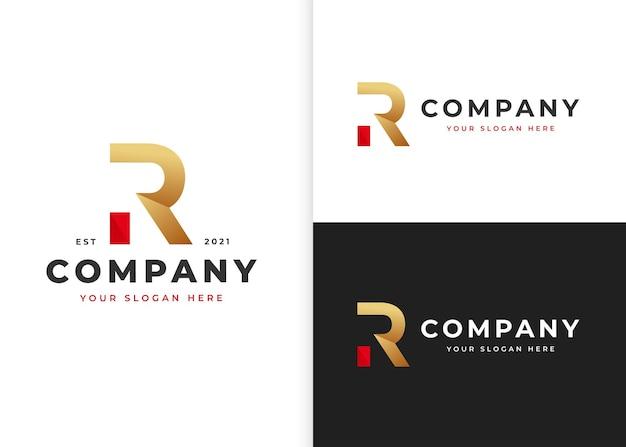 Szablon projektu logo litery r. ilustracje wektorowe