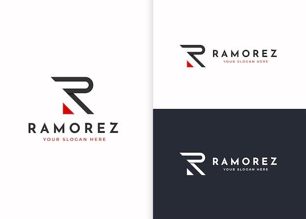 Szablon projektu logo litery r