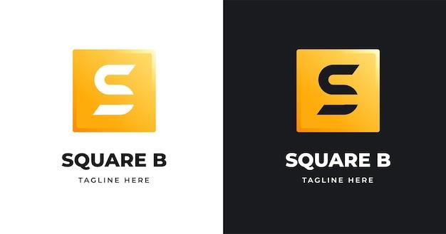 Szablon projektu logo litery s o kwadratowym kształcie