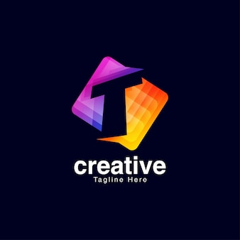 Szablon projektu logo litery t