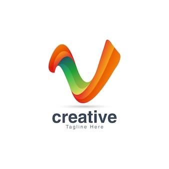 Szablon projektu logo litery v