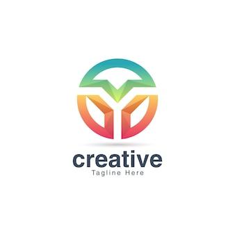 Szablon projektu logo litery y