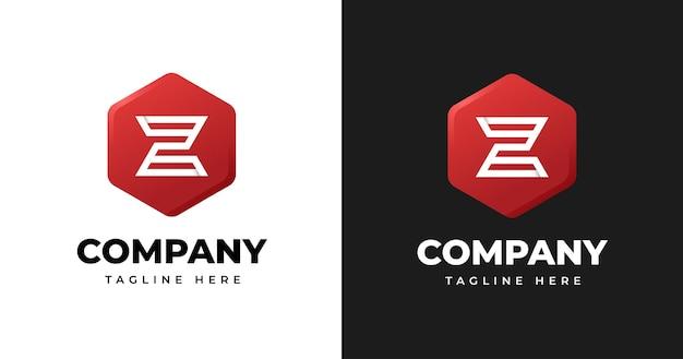 Szablon projektu logo litery z z geometrycznym stylem kształtu