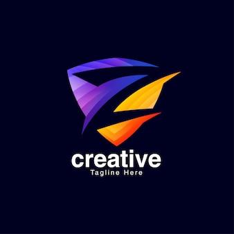 Szablon projektu logo litery z
