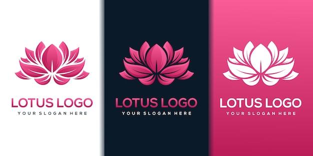 Szablon projektu logo lotosu