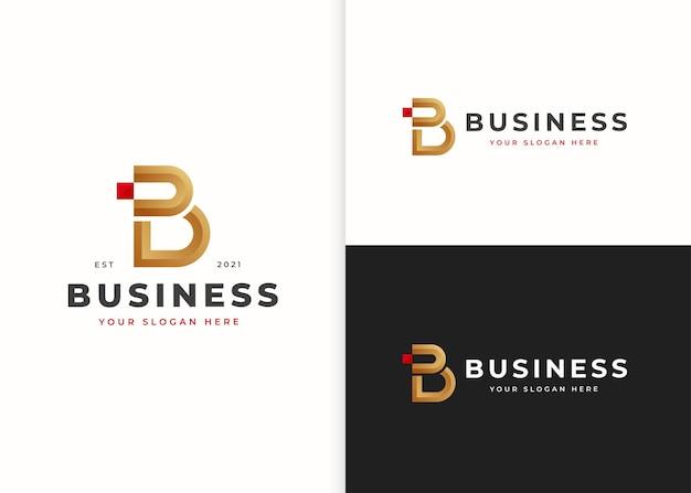 Szablon projektu logo luksusowe litery b. ilustracje wektorowe