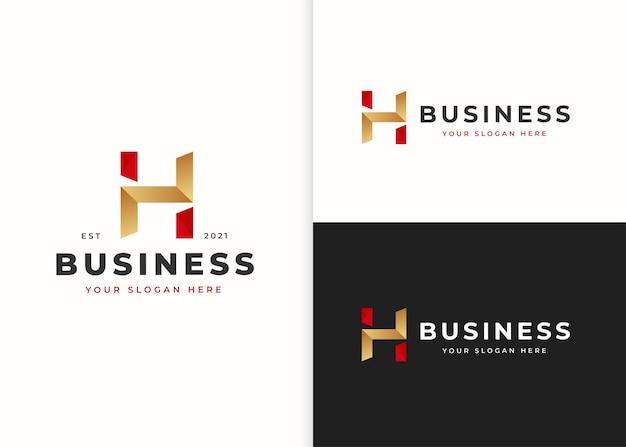 Szablon projektu logo luksusowe litery h. ilustracje wektorowe