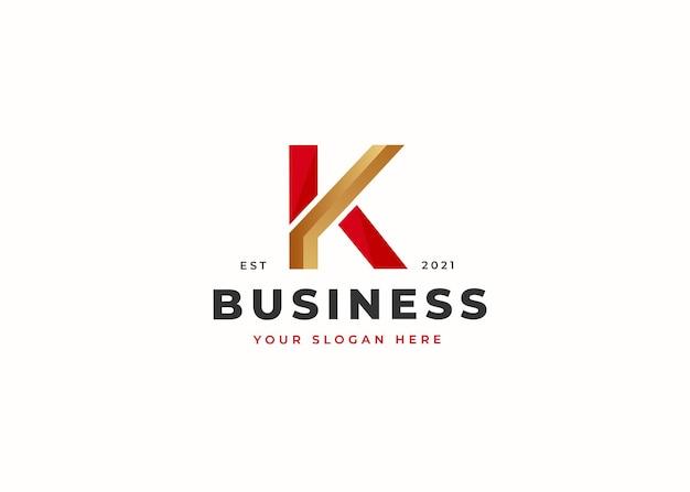 Szablon projektu logo luksusowe litery k. ilustracje wektorowe