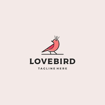 Szablon projektu logo luksusowy ptak