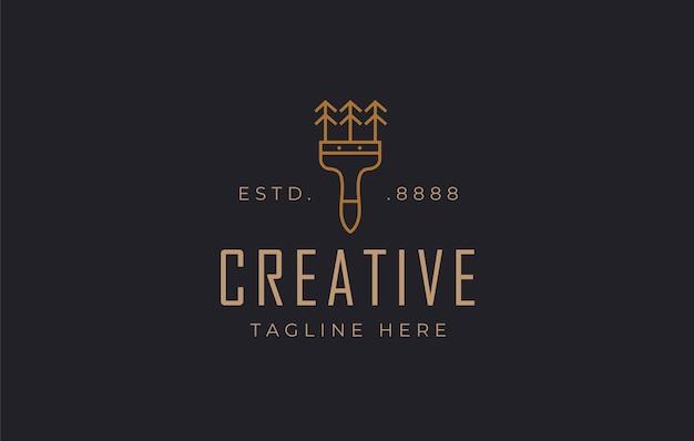 Szablon projektu logo malarza pędzla