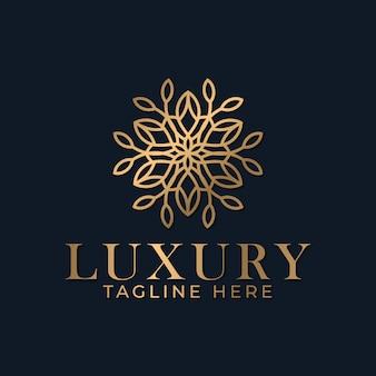 Szablon projektu logo mandali kwiatowej dla biznesu spa i masażu.