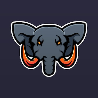 Szablon projektu logo maskotki słonia