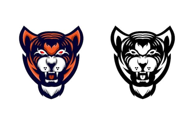 Szablon projektu logo maskotki tygrysa