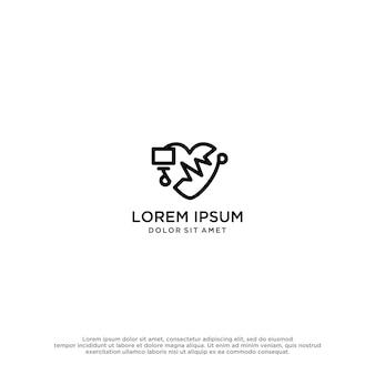 Szablon projektu logo miłości