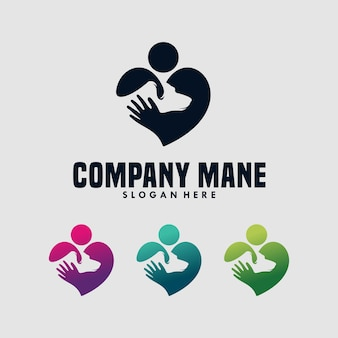 Szablon projektu logo miłośnika psów