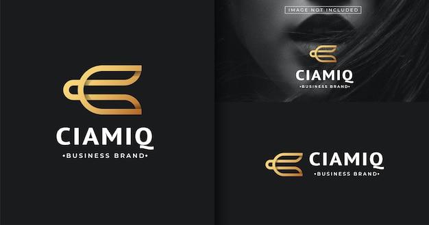 Szablon Projektu Logo Minimalistycznego Listu Premium Wektorów
