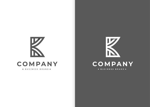 Szablon projektu logo monogram litery k