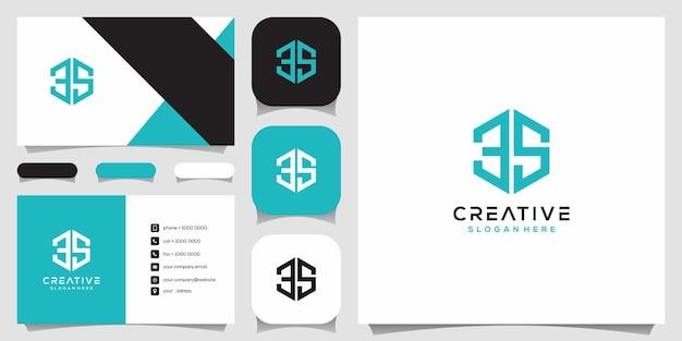 Szablon projektu logo monogram