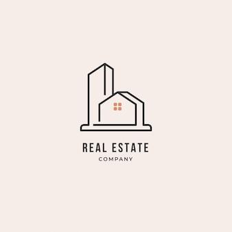 Szablon projektu logo nieruchomości. dom, biznes.