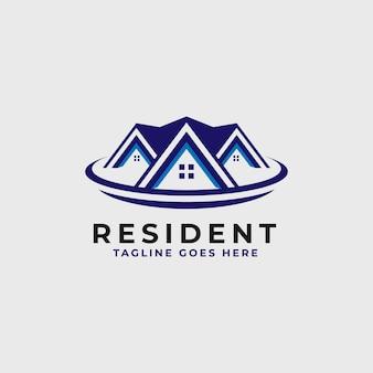 Szablon projektu logo nieruchomości - logo budynku konstrukcji i architektury